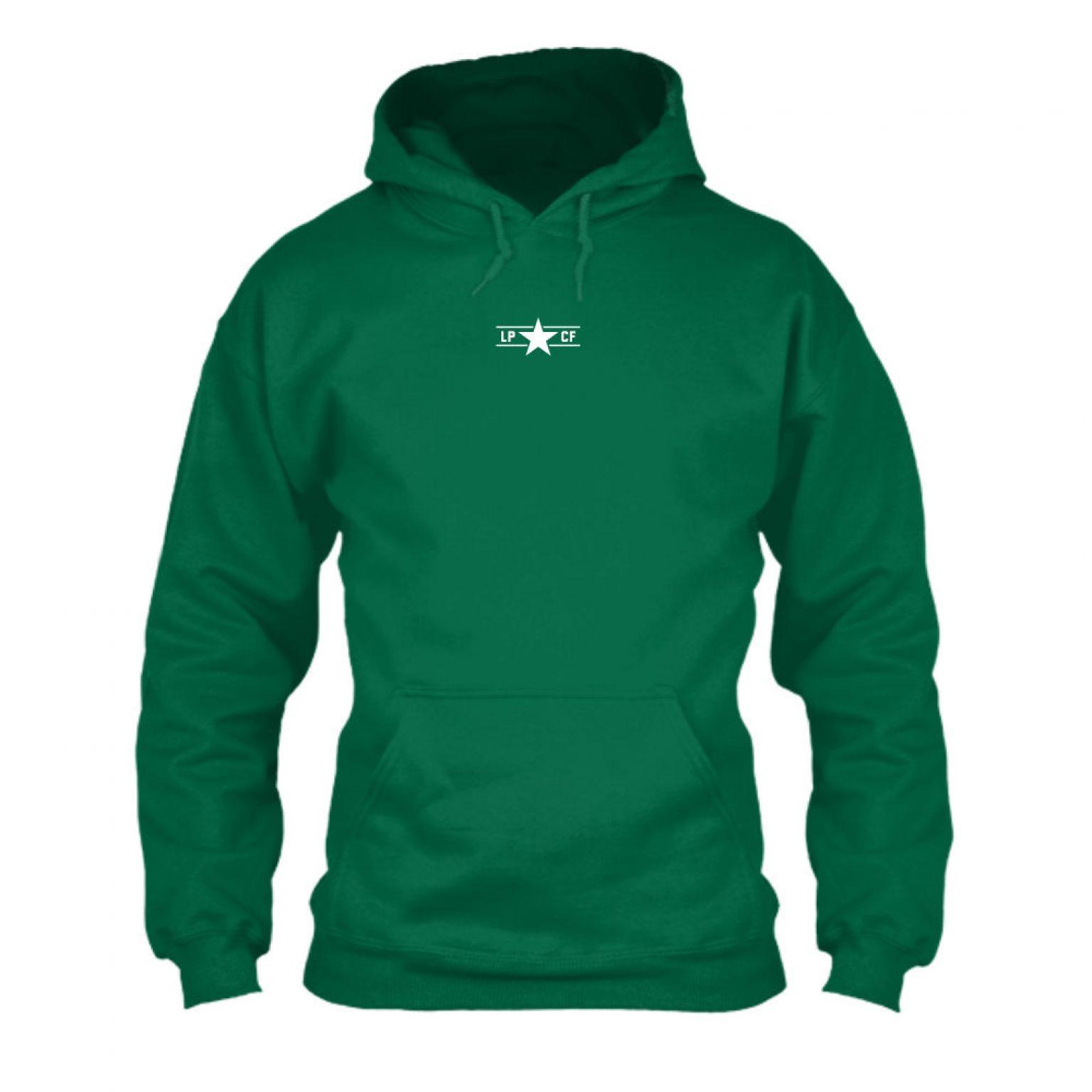 LPcircle hoodie green front