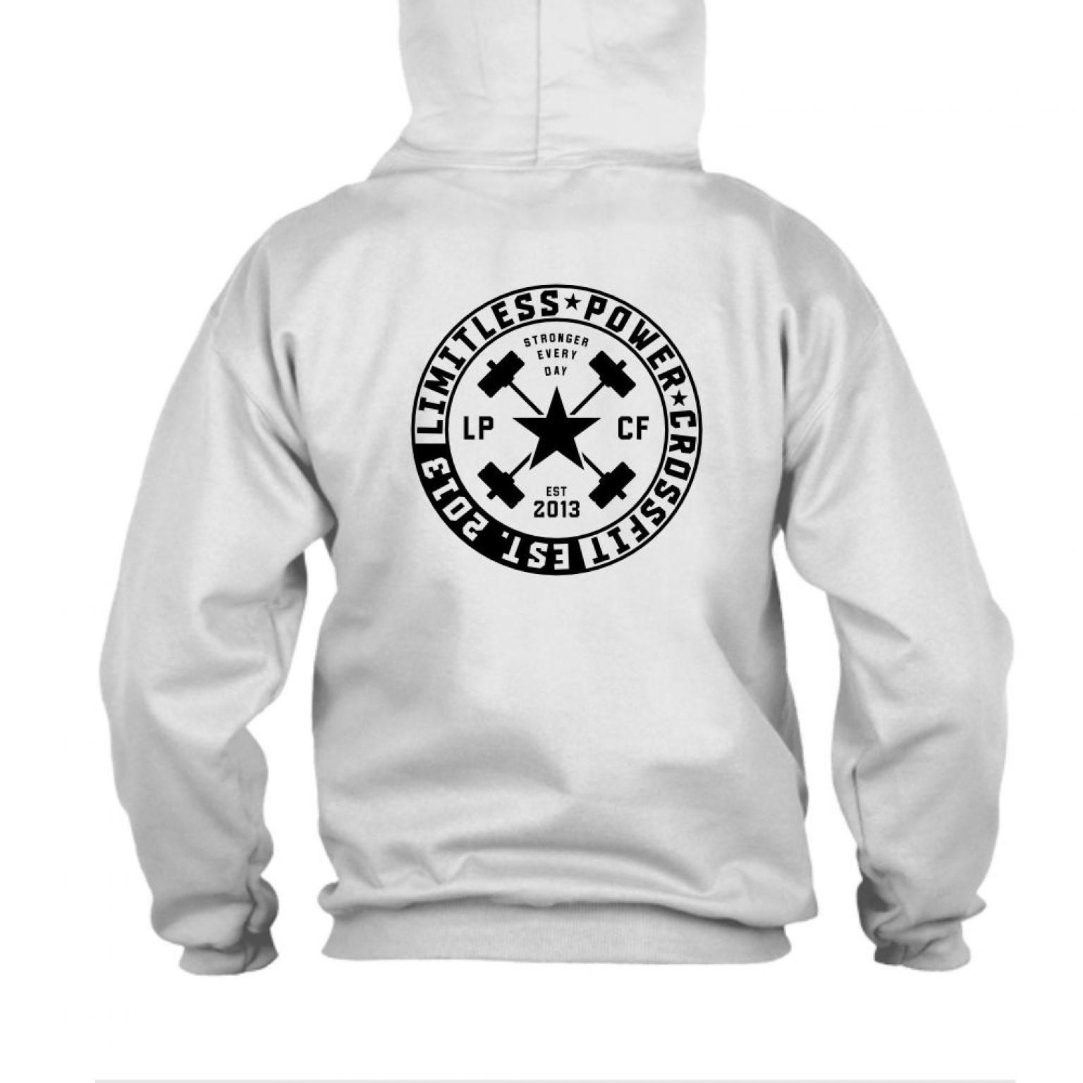 LPcircle hoodie oxford back