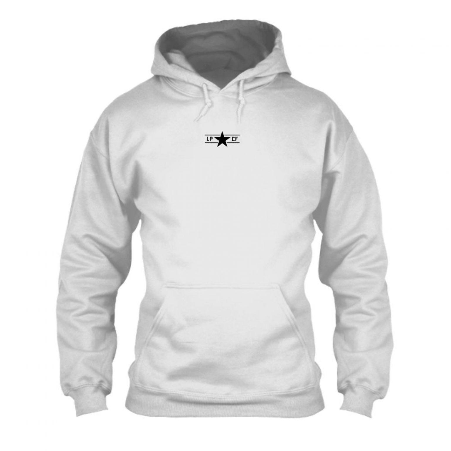 LPcircle hoodie oxford front