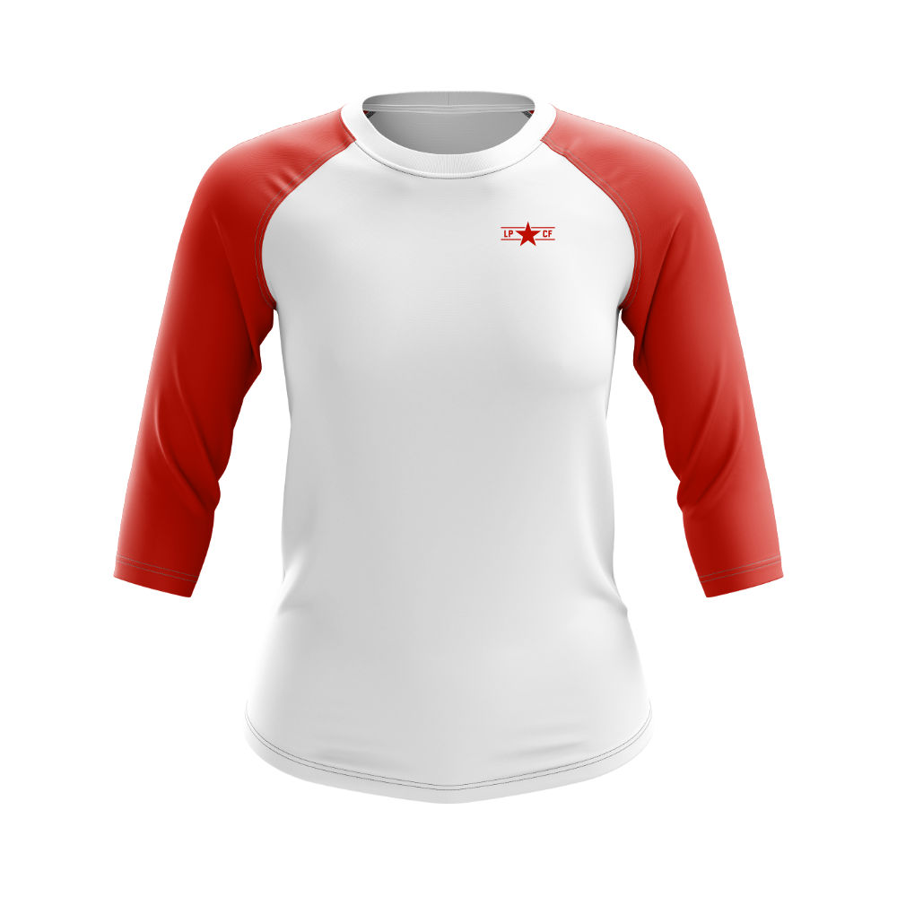 Longsleeve LPcircle women whitered front1