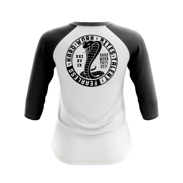 Longsleeve Snake women whiteblack back