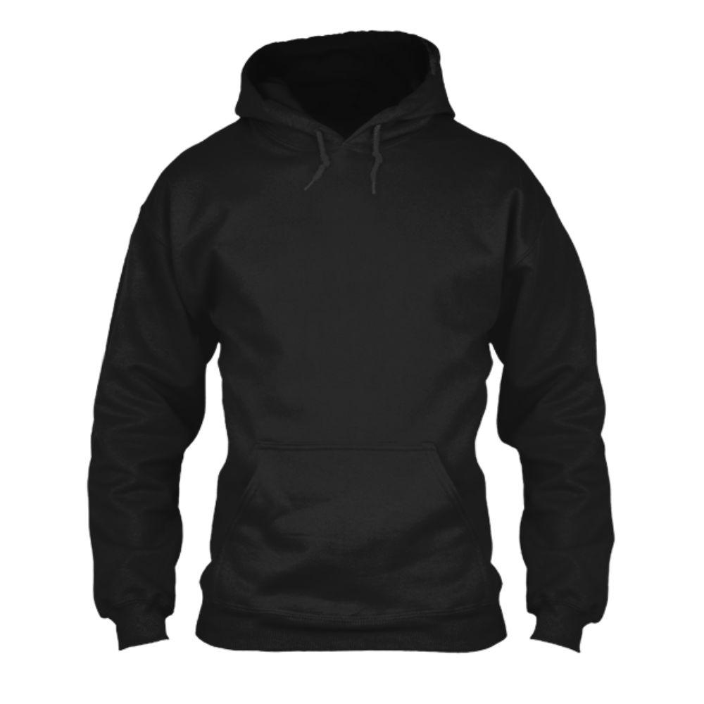 herren hoodie black front