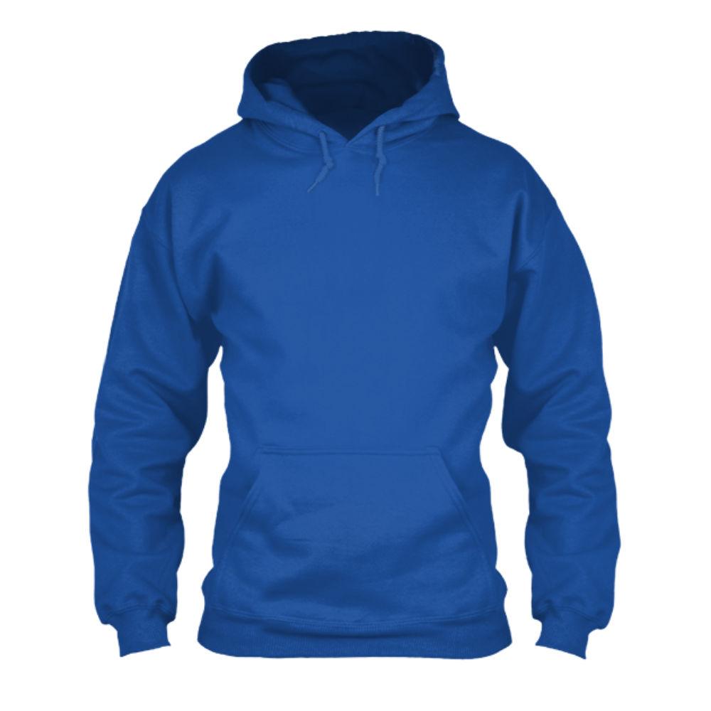herren hoodie blue front