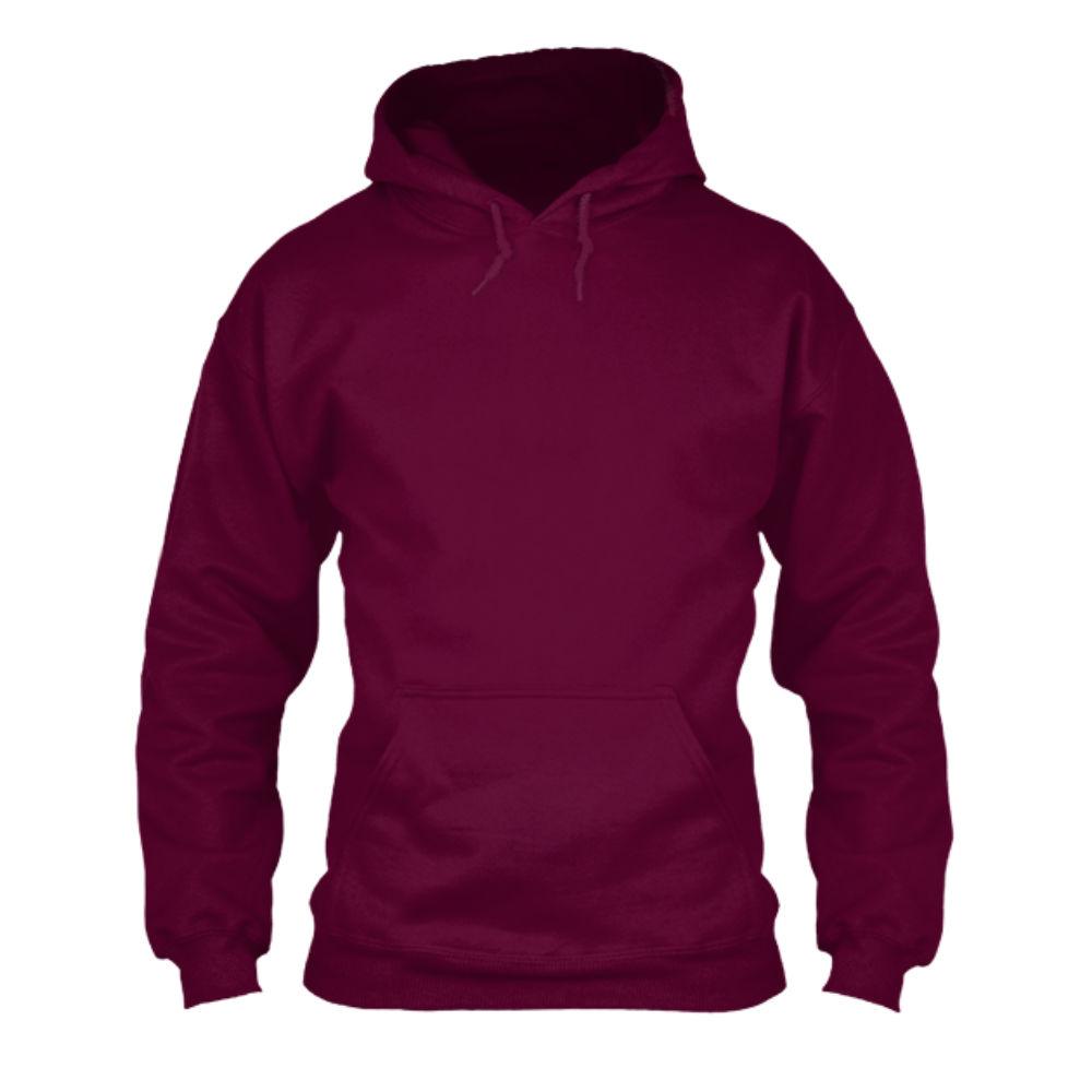herren hoodie burgundy front