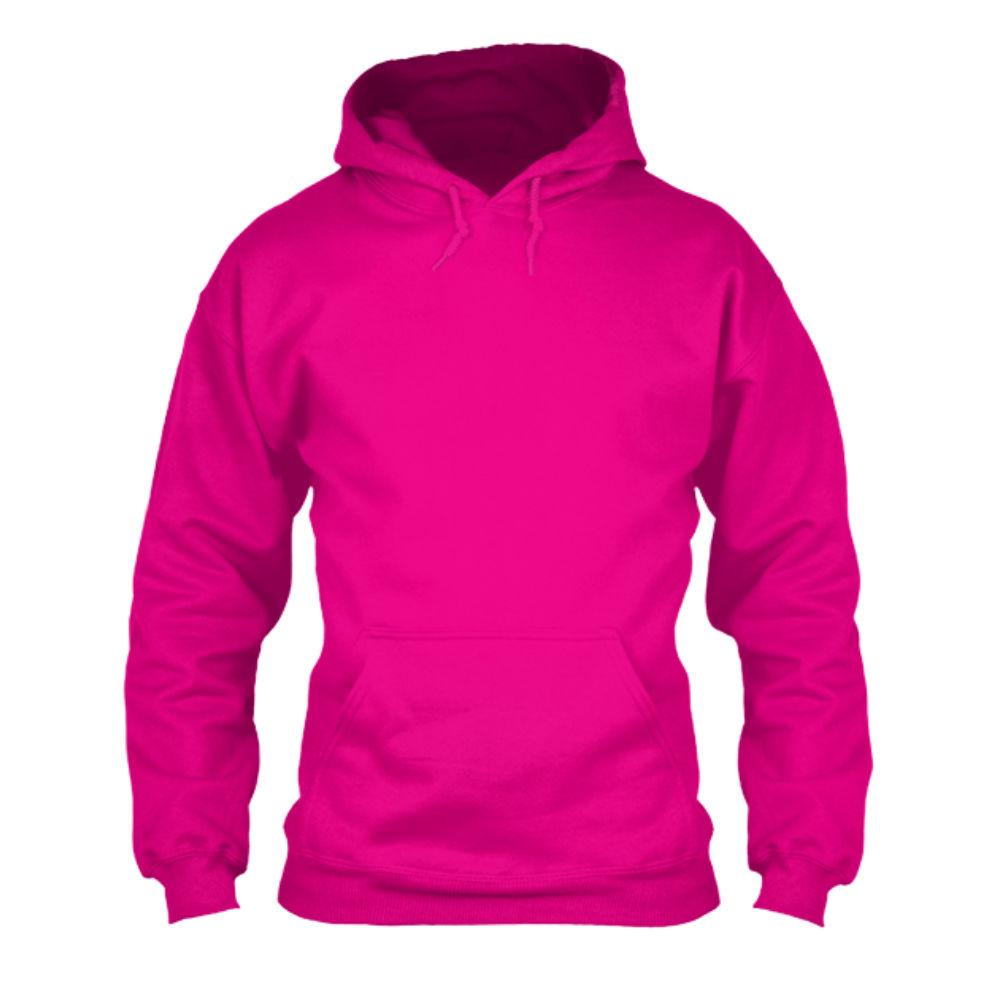 herren hoodie fuchsia front