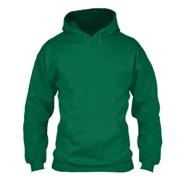 herren hoodie green front