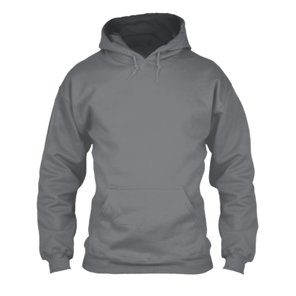 herren hoodie grey front