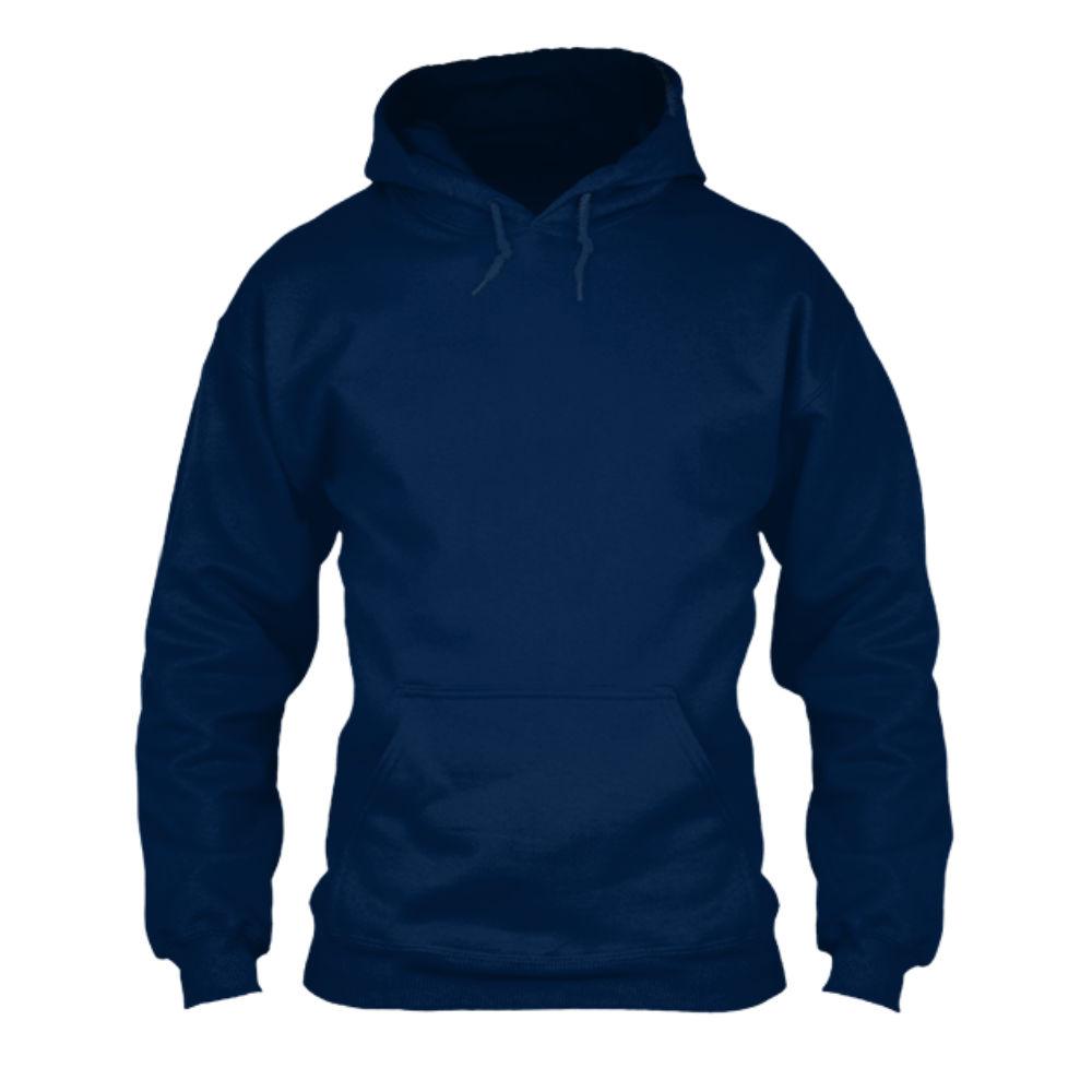 herren hoodie navy front