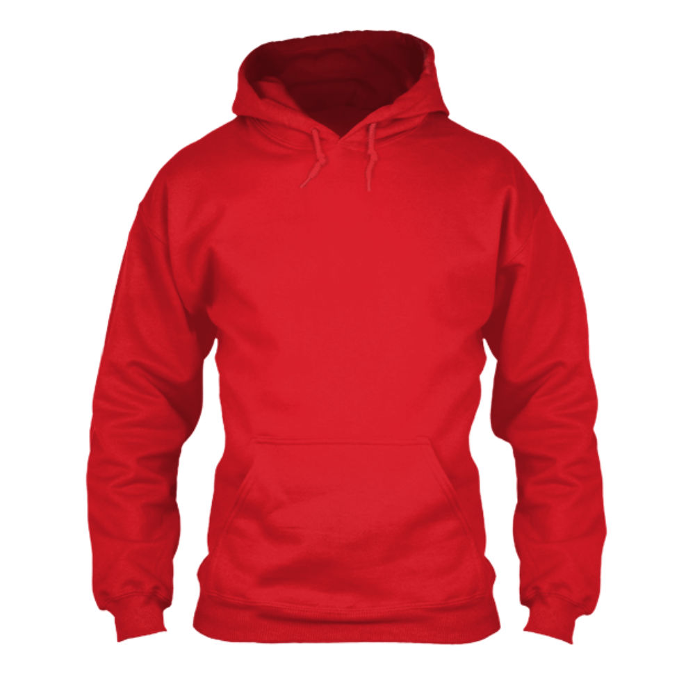 herren hoodie red front