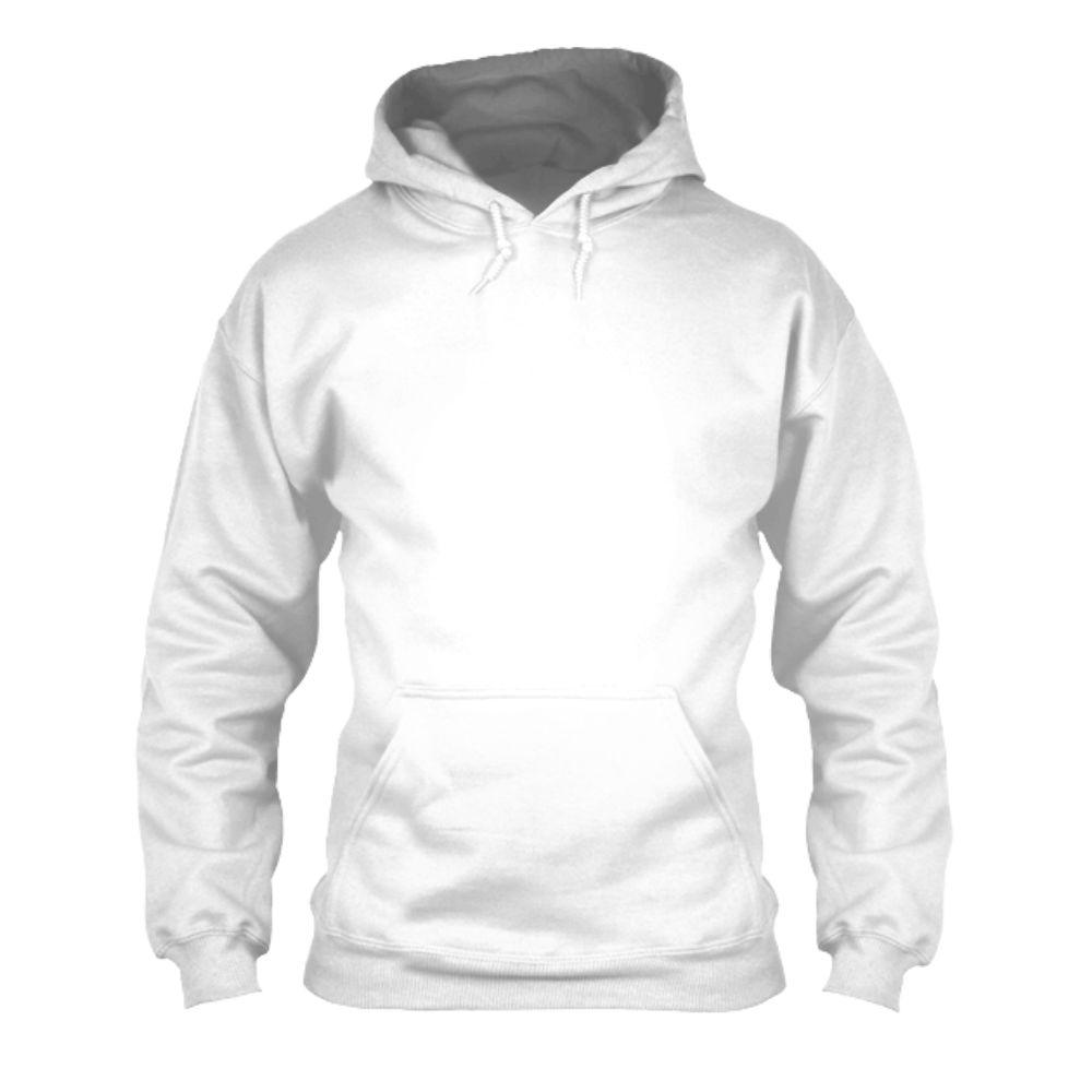 herren hoodie white front
